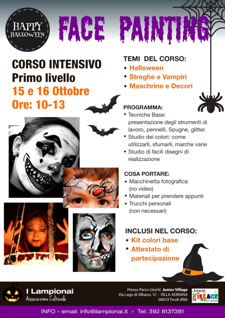 Volantino corso Face Painting Halloween
